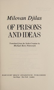 Cover of: Of prisons and ideas