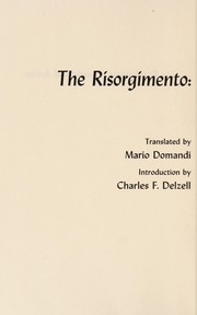 Cover of: The Risorgimento