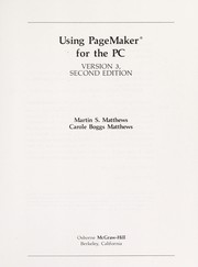 Cover of: Using PageMaker for the PC, version 3