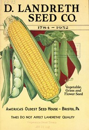 Cover of: D. Landreth Seed Co., 1784-1932 | D. Landreth and Co