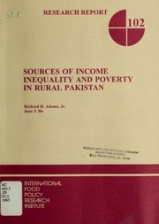 Cover of: Sources of income inequality and poverty in rural Pakistan | Richard H. Adams