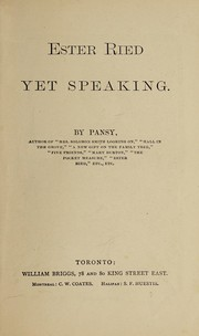 Cover of: Ester Ried yet speaking | Pansy