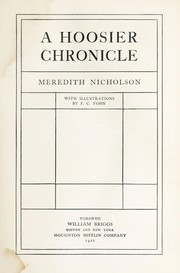 Cover of: A Hossier chronicle | Nicholson, Meredith