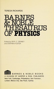 Cover of: Barnes & Noble thesaurus of physics