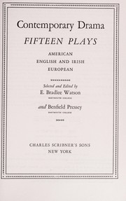 Cover of: Contemporary Drama, Fifteen Plays | Watson