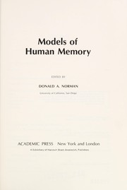 Cover of: Models of human memory