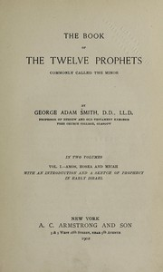 Cover of: The book of the twelve prophets