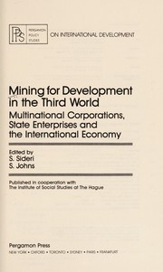 Cover of: Mining for development in the Third World