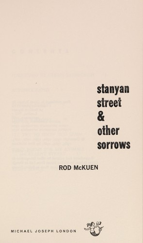 Stanyan street & other sorrows by Rod McKuen
