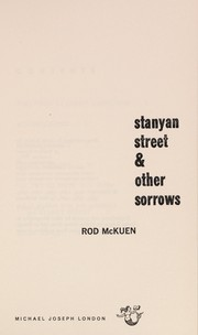 Cover of: Stanyan street & other sorrows | Rod McKuen