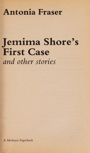 Cover of: Jemima Shore's first case