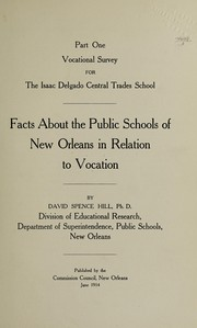Cover of: Vocational survey for the Isaac Delgado Central Trades School