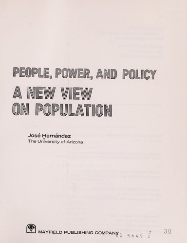 People, Power and Policy: A New View on Population by