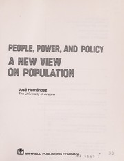 Cover of: People, Power and Policy: A New View on Population |