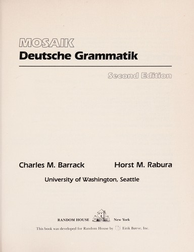 Deutsche Grammatik by Charles Michael Barrack