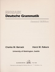 Cover of: Deutsche Grammatik | Charles Michael Barrack