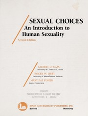 Cover of: Sexual choices | Gilbert D. Nass