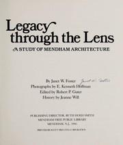 Cover of: Legacy Through the Lens