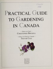 Cover of: Practical guide to gardening in Canada