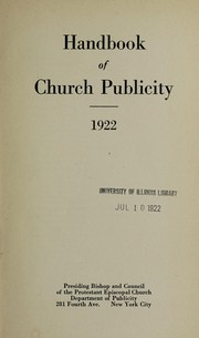 Cover of: Handbook of church publicity | Episcopal Church. National Council. Dept. of Publicity