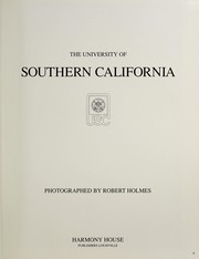 Cover of: The University of Southern California | Holmes, Robert