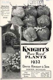 Cover of: Knights pure bred plants, 1932 | David Knight & Son
