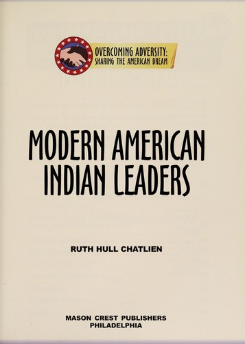 Modern American Indian chiefs by Ruth Hull Chatlien