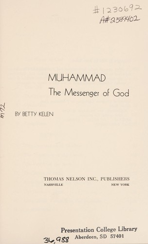 Muhammad by Betty Kelen
