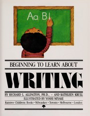 Cover of: Writing | Richard L. Allington