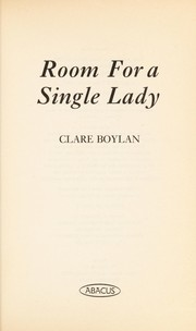Cover of: Room for a single lady | Clare Boylan