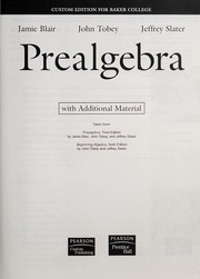 Cover of: Prealgebra