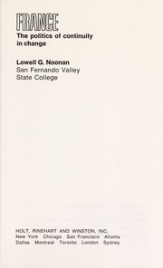 Cover of: France | Lowell Gerald Noonan