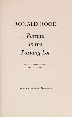 Possum in the parking lot by Ronald N. Rood