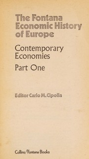 Cover of: Contemporary economies | Carlo M. Cipolla