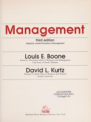 Cover of: Management | Louis E. Boone