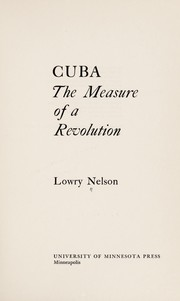Cover of: Cuba | Nelson, Lowry