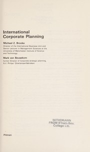 Cover of: International corporate planning