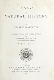 Cover of: Essays on natural history
