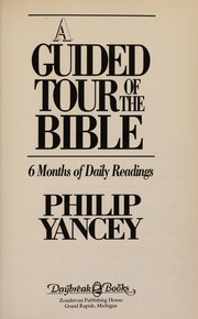 Cover of: A guided tour of the Bible