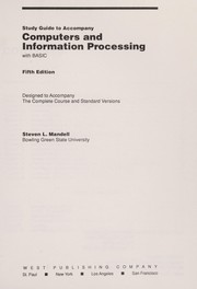 Cover of: Study Guide to Accompany Computer and Information Processing with BASIC |