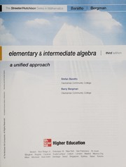 Cover of: Elementary & Intermediate Algebra Annota
