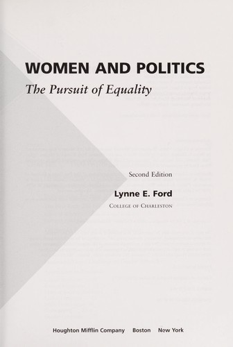 Women and politics by Lynne E. Ford
