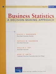 Cover of: Business statistics