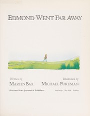 Cover of: Edmond went far away | Martin Bax