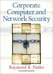 Cover of: Corporate Computer and Network Security | Raymond Panko