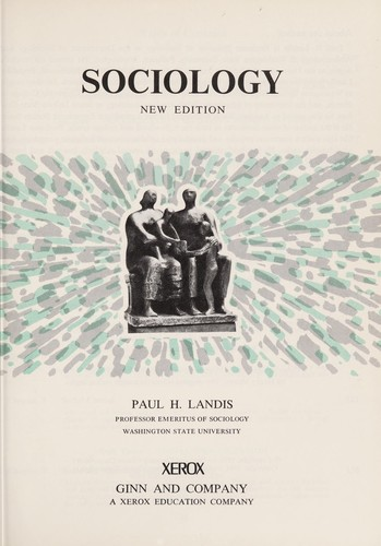Sociology by Landis, Paul Henry