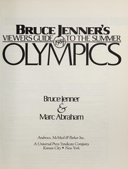Cover of: Bruce Jenner's Viewers guide to the 1984 summer Olympics