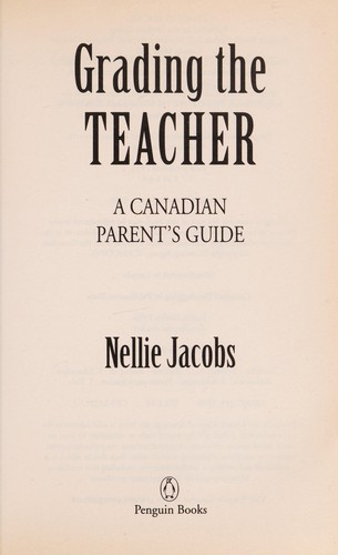 Grading the teacher by Nellie Jacobs