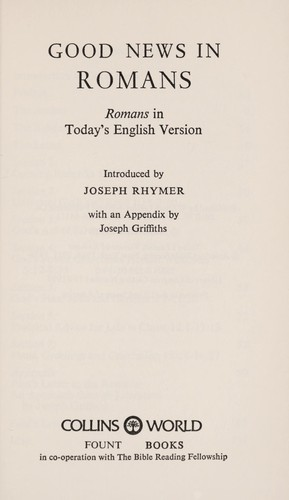 Good news in Romans by Joseph Rhymer