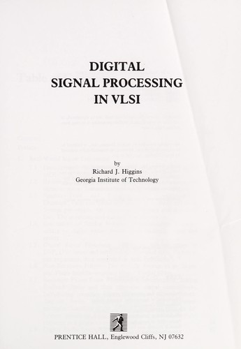Digital signal processing in VLSI by Richard J. Higgins